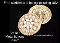 Pearl jacket  buttons,  Enamel metal buttons,  . Free worldwide shipping (2) (3) (4) (5) (6) (7)